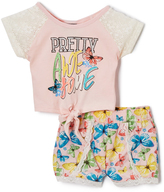 Dollhouse Pink 'Pretty Awesome' Raglan Tee - Infant, Toddler & Girls