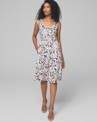 Soft Jersey Wrapped Waist Dress