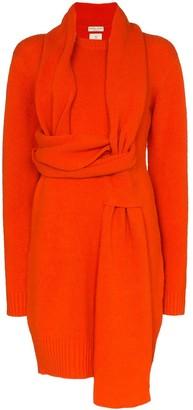 Bottega Veneta wrap-around scarf-style jumper dress