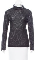 Narciso Rodriguez Sequined Long Sleeve Top