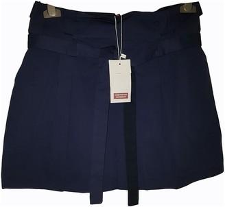 Comptoir des Cotonniers Navy Cotton Skirt for Women