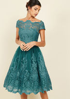 ModCloth Exquisite Elegance Lace Dress in Lake in 22