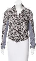 Scanlan Theodore Silk Cheetah Print Jacket