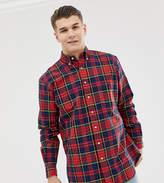 Polo Ralph Lauren Big & Tall tartan check oxford shirt player logo buttondown in red