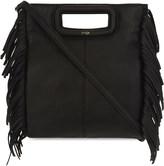 Maje Fringed leather cross-body bag