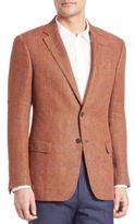 Armani Collezioni Linen Windowpane Sportcoat