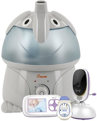 Bt Video Baby Monitor 5000 with Snuza Hero MD and Crane 3.78-Litre Cool Mist Humidifier