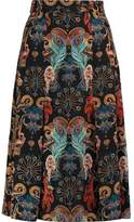 Matthew Williamson Regal Monkey Printed Silk Skirt
