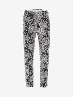 Alexander McQueen Ivy Creeper Jacquard pants