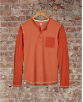 Express speckled color block henley