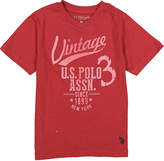 U.S. Polo Assn. Red Heather 'Vintage' Crewneck Tee - Boys