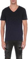 Replay Geometric-print Cotton T-shirt