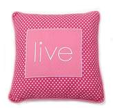 One Grace Place Simplicity Hot Pink Decorative Pillow Live, Hot Pink and White by