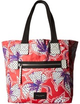 Marc Jacobs Spotted Lily Printed Biker North/South Tote Tote Handbags