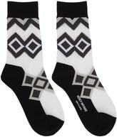 Issey Miyake Black Half Sheer Socks
