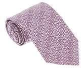 Missoni U5297 Silver/purple Sharkskin 100% Silk Tie.