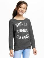 Old Navy Relaxed Graphic Scoop-Neck Tee for Girls
