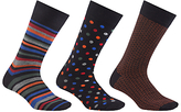 John Lewis Multi Pattern Socks, Pack Of 3, Multi