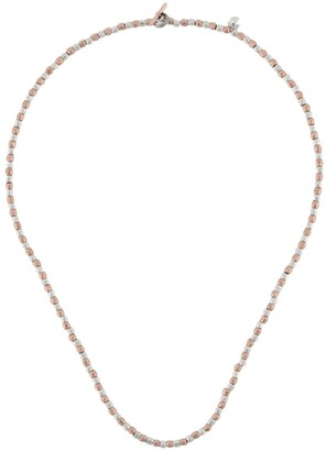 Dodo 9kt rose gold and silver mini Granelli necklace