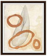 Pottery Barn Copper Leaf Cosmo Framed Print by Tina Pressler