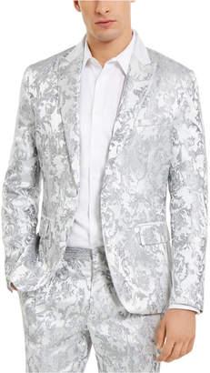 INC International Concepts I.n.c. Men Slim-Fit Embroidered Floral Jacquard Suit Jacket