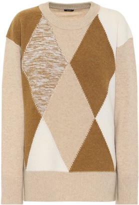 Joseph Argyle merino wool sweater