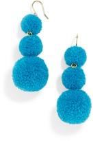 BaubleBar Pom Pom Crispin Ball Drop Earrings-Teal