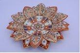 Radha Krishna Shop Lotus Shape Marble Dry Fruits Bowl
