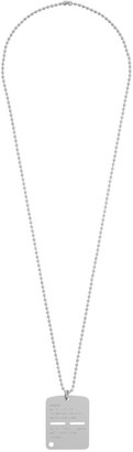 Alyx Silver Military Tag Necklace