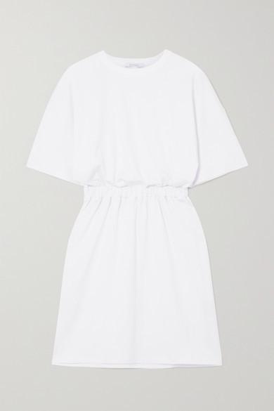 Ninety Percent + Net Sustain Open-back Organic Cotton-jersey Mini Dress - White