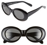 Acne Studios Women's 'Mustang' 49Mm Oval Sunglasses - Black