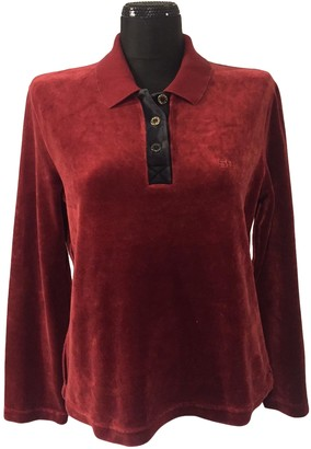 Sonia Rykiel Burgundy Cotton Top for Women Vintage