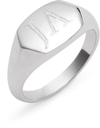 Argentovivo Personalized Signet Ring