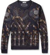 Valentino Zandra Rhodes Printed Loopback Cotton-Blend Jersey Sweatshirt