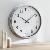 "Crate & Barrel Galvanized 22"" Wall Clock"
