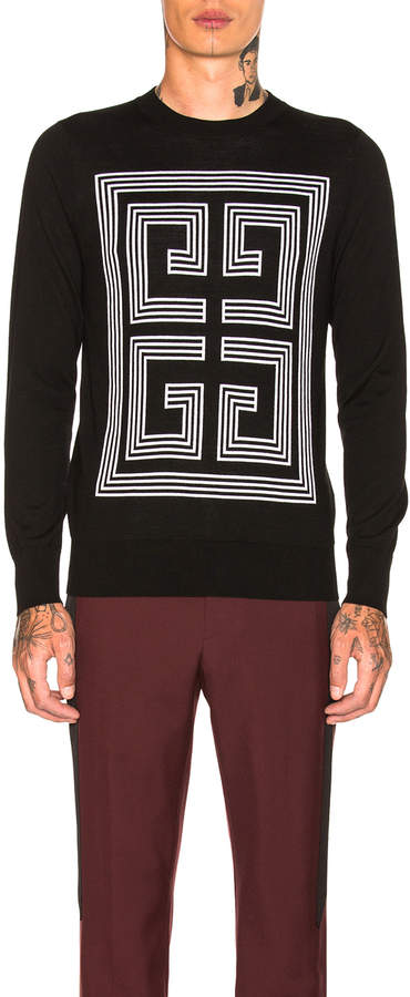 Givenchy 4G Sweater in Black   FWRD