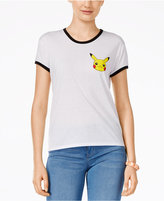 Mighty Fine Juniors' Pikachu Graphic Ringer T-Shirt
