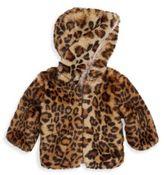 Splendid Baby Girl's Leopard Faux Fur Jacket