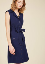 Engaging Editorialist Shirt Dress in Navy in 4X