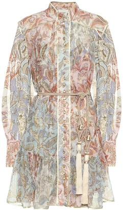 Zimmermann Lucky Bound printed silk minidress