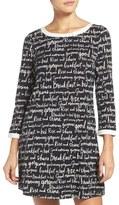Kate Spade Women's Sleep Shirt & Eye Mask