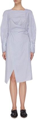 3.1 Phillip Lim Stripe gathered shirt dress