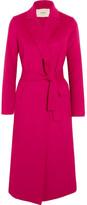 Maje Belted Wool-blend Felt Coat - FR38