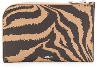 Ganni Zebra Print Wallet