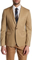 Bonobos Khaki Woven Two Button Notch Lapel Cotton Jacket