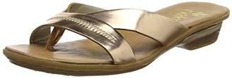 Rieker Women's 63468 Flip Flops, Gold (Bronze 90)
