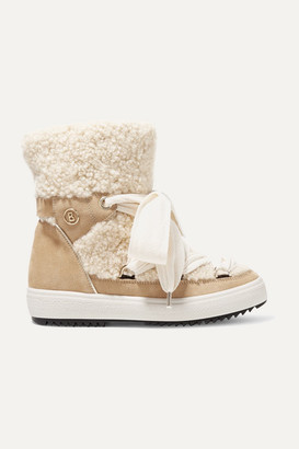 Bogner Anchorage Suede And Shearling Ankle Boots - Sand