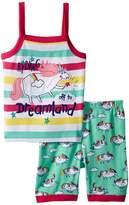Hatley Roly Poly Unicorns Sleeveless Pajama Set Girl's Pajama Sets
