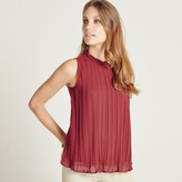 Apricot Black Ruched Neck Swing Top