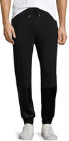 Ovadia & Sons Satin-Patch Track Pants, Black